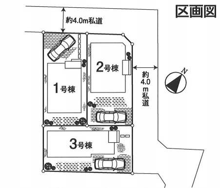 東側道路 駐車スペース1台分
