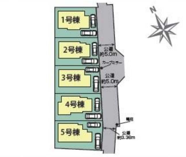 東側道路 駐車スペース2台