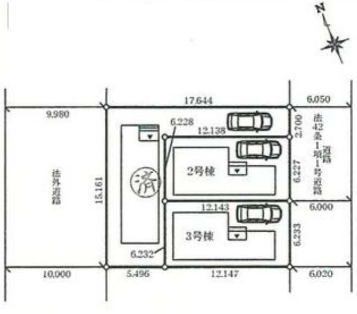 東道路 駐車スペース1台